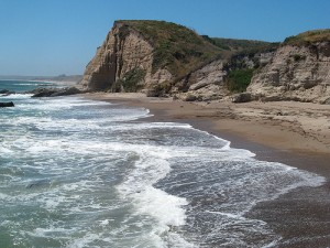 Sculptured Beach, looking north toward the Limatour Split.  Point Reyes National Seashore photo, courtesy Comrogues, Flickr