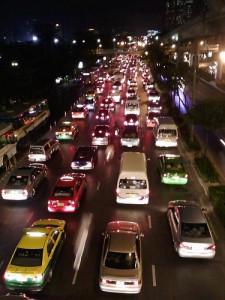 traffic jam car