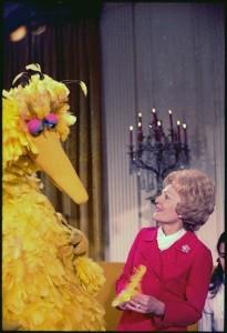 big bird sesame street first lady