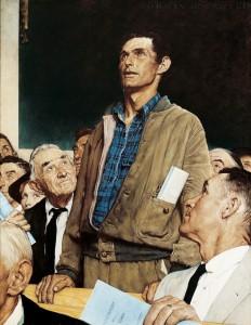 Norman Rockwell Freedom of Speech