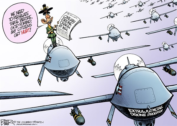 CARTOON: Drone Crash