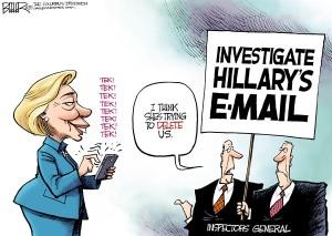 Hillary email cartoon