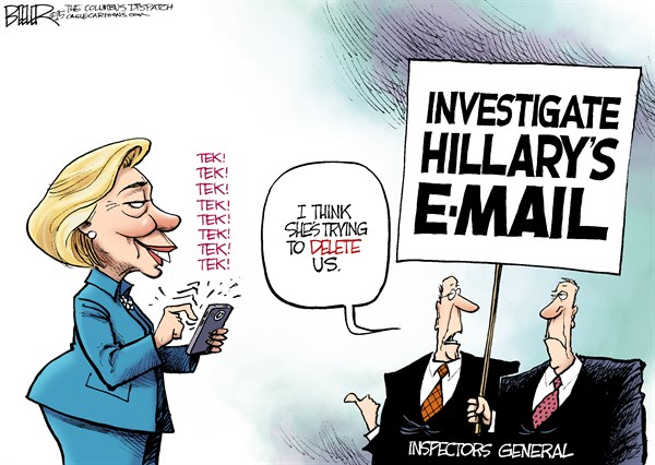 Hillary email cartoon