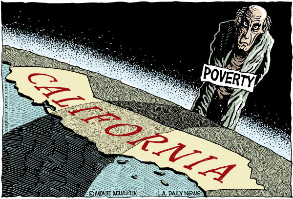 Image result for California poverty cartoon