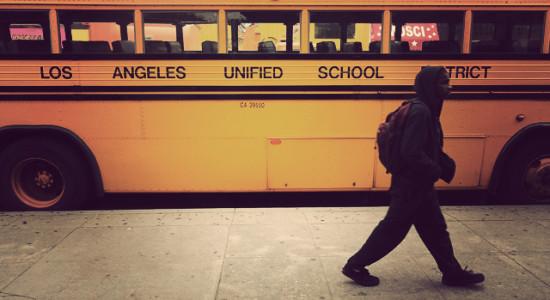 LAUSD school bus