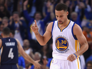 Guard Steph Curry of the Golden State Warriors has led the team to the top of the NBA for the past two seasons.