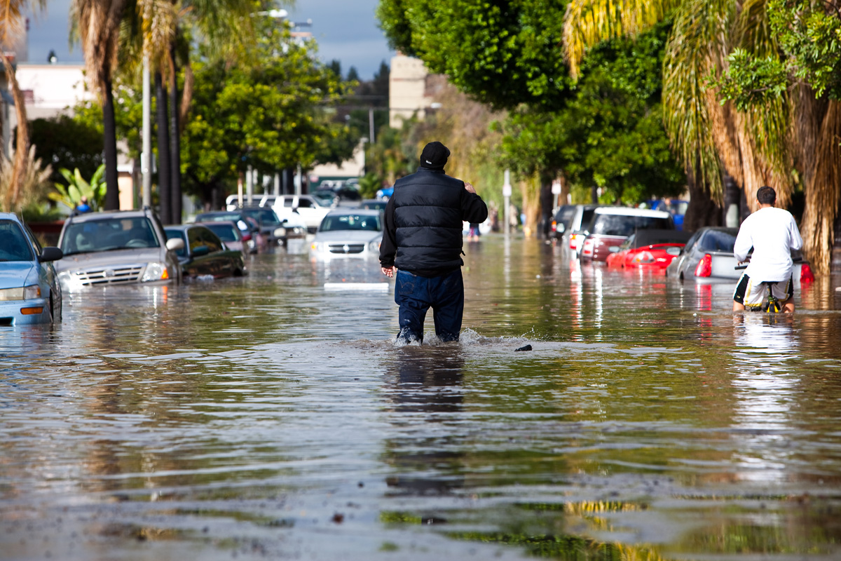 Flooding In Long Beach, California