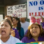 """Maria Ortiz, at left, a Mexican immigrant has been living in the United States for 23 years. """"I am single. I work so hard to stay. I never needed support from the government,"""" Ortiz said. She is not a citizen and works as a janitor, she said during an immigration protest outside Rep. Ed Royce's office in Brea.    ///ADDITIONAL INFORMATION:   – MINDY SCHAUER, ORANGE COUNTY REGISTER –  Shot 111713 –  immig.fast.11.19  Advocates for immigration reform will camp our near the office of Rep. Ed Royce for five days, where they will stage a fast.  They are asking OC's Republican leaders in Congress to publicly support an overhaul to the nation's immigration laws, including the so-called pathway to citizenship that would create a process for some 11 million people living in the U.S. illegally the right to become citizens."""