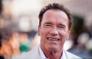 "SAN DIEGO, CA - JULY 18: Arnold Schwarzenegger arrives for the ""Escape Plan"" Premiere - Comic-Con International 2013 at Reading Cinemas Gaslamp on July 18, 2013 in San Diego, California. (Photo by Gabriel Olsen/FilmMagic)"