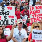 School union protest