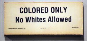 racist sign