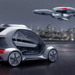 Aerial drone electric car