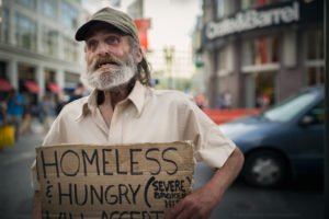 Homeless hungry food