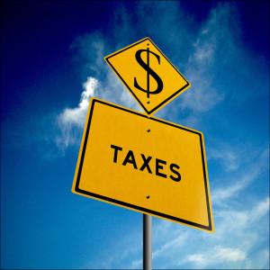 tax sign