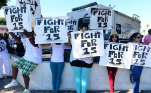 Minimum wage fight for 15