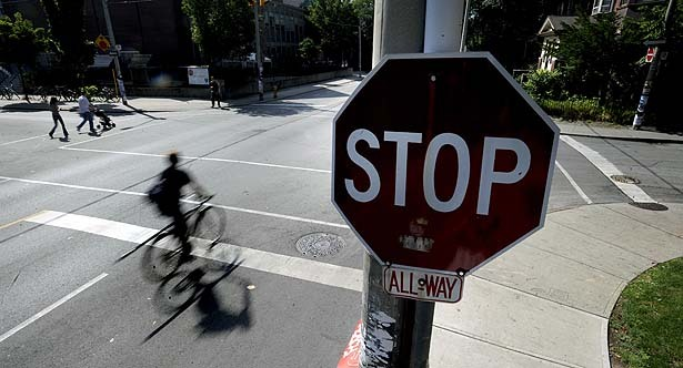bicycle stop sign